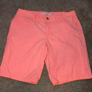 LOFT coral colored Bermuda shorts